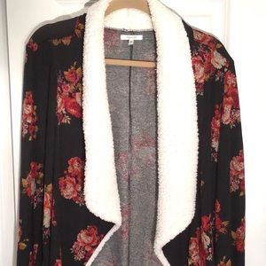 Maurices faux fur cardigan sweater